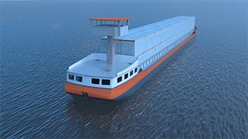 Zero-emission container ship under construction