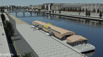 Floating city warehouse